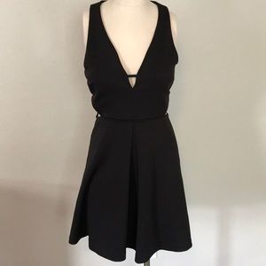 Express Black Mini Dress with Side Cut Outs